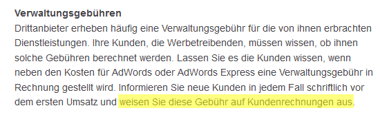 Google Adwords Partner Policy Deutsch