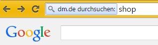 dm.de shop Google suche