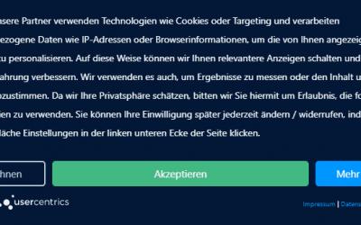 Beispiel usercentrics: Wie Cookie-Layer die Ladezeit verschlechtern